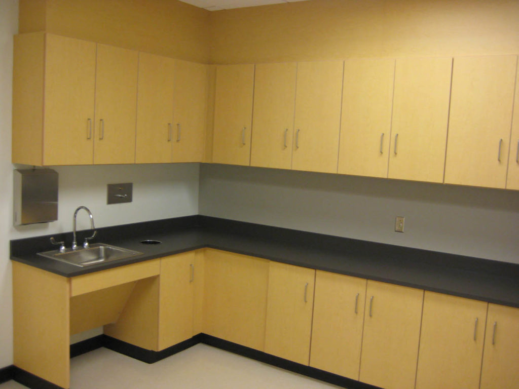 PLAM Casework with Laminate Tops
