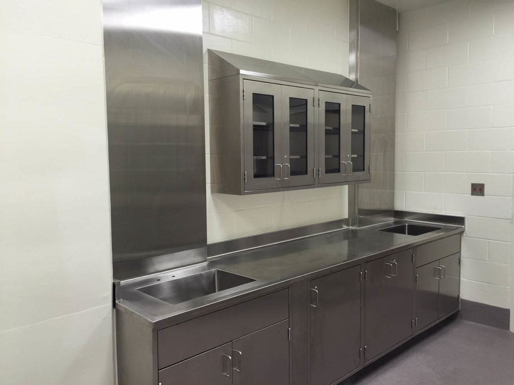 Stainless Steel Fixed Casework with Umbilcal